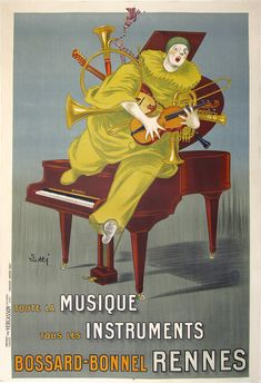 Rennes Music Instruments Vintage French Poster Wall Art giclee reproduction print on fine paper that will not fade. Available in different sizes, unframed or framed in black matte wood frame. Custom sizes available. Made in USA by Museum Outlets Vintage French Posters, Vintage Prints, French Vintage, Poster Store, Online Posters, 1920s Art, Unique Wall Art, Advertising Poster, Wall Art Sets