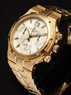 $26,000 Authentic Vacheron Constantin Men's Overseas Chronograph 18K Yellow Gold Watch