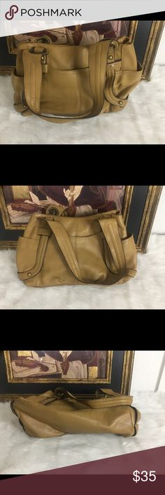 🆕Listing. Tignanello Carmel Leather Handbag. 💥 Tignanello cute Carmel color leather handbag. Measures 14x9. In good condition. Tignanello Bags