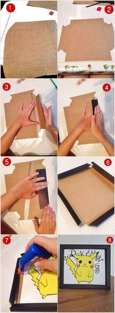 Karinisse: Como fazer molduras de papel cartão