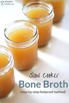 Bone broth made EASY with this step by step guide, photos, and checklist!