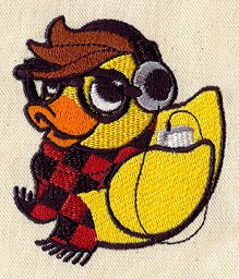 Embroidery Designs at Urban Threads - Hipster Duckie