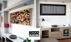 Buy an Acoustic panel wall art made of wood.