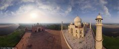 The stunning Taj Mahal was built by an estimated 22,000 people including labourers, painte...