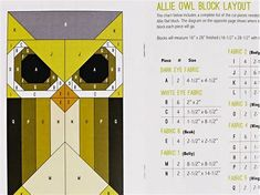 Image result for Allie Elizabeth Hartman Quilt Owl Pattern