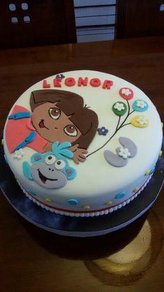 Cake fondant Dora la exploradora.