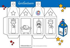 Christmas nativity craft box - color and assemble Preschool Christmas, Christmas Nativity, Noel Christmas, Christmas Activities, A Christmas Story, Christmas Printables, Christmas Colors, Christmas Projects, Christmas Decorations