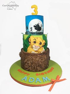 Icing Smiles - Lion King cake by curiAUSSIEty custom cakes
