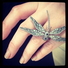 Colette enamel and diamond dragonfly ring ~ Instagram
