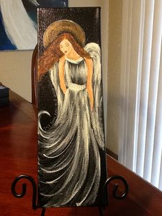 Angel Painting Scripture Art My Soul Original Painting by Florinda,