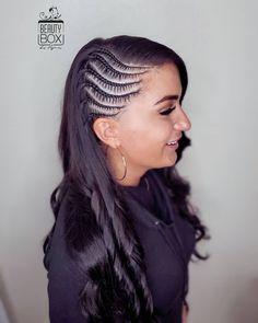 Half Braided Hairstyles, Mens Braids Hairstyles, Teen Hairstyles, Quick Hairstyles, Wedding Hairstyles, Baby Hair Cut Style, Rainbow Braids, Hair Supplies, Hair Hacks