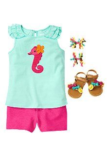 Baby Seahorse Baby Girl Outfit from Crazy 8 : WomanlyWoman.com