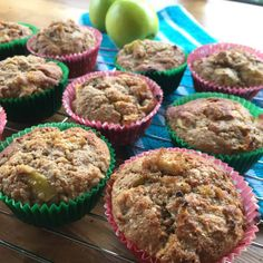 Healthy Apple & Maple Syrup Muffins - Just a Mum Apple Loaf, Apple Muffins, Baking Muffins, Healthy Muffins, Healthy Treats, Healthy Baking, Healthy Recipes, Baby Food Recipes, Baking Recipes