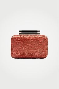 Weddings | Clementine Orange - DVF | Tonda Crystal Clutch, Resort 2012/13 - #weddings #clutch