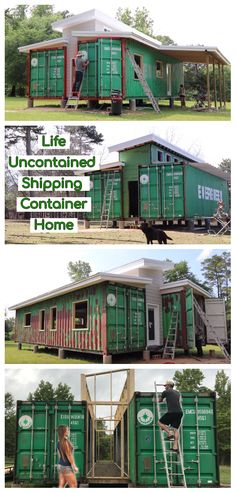 Life Uncontained Shipping Container Home After years spent not knowing what to do with our lives, we have finally decided to chase what makes us happy. Cargo Container Homes, Shipping Container Home Designs, Building A Container Home, Container Buildings, Container House Design, Shipping Containers, Container Store, Sea Containers, Casas Containers