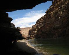 Cruising through the Grand Canyon on raft.