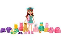 Polly Pocket Boneca e Roupinhas - Crissy - Mattel