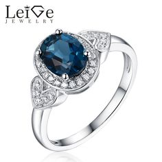 Find More Rings Information about Leige Jewelry London Blue Topaz Ring Natural Gemstone Wedding Promise Rings for Women Fine Jewelry Oval Cut  Christmas Gift ,High Quality ring for,China rings for women Suppliers, Cheap ring natural from PrettyJewelry on Aliexpress.com
