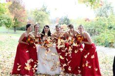 red wedding#red#wedding#red bridemaids dresses