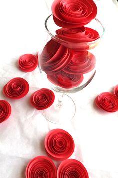 Coral Paper Flowers - Wedding Paper Flowers - Wedding Decorations - Bridal Shower - Flower Centerpiece - Baby Shower Decor - Summer Wedding