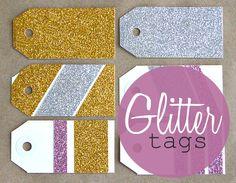 DIY Glitter Tags