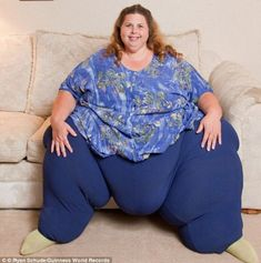 At a staggering 50stone, her ex-husband Alex (a svelte 11stone), couldn't resist her and set out to win her back and reignite their sex life.    The couple now have marathon sex sessions of up to seven times in one day and Pauline maintains that the 'sexercise' is what's keeping her slim.