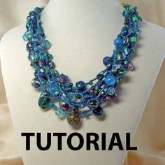 Crochet MultiStrand Beaded Necklace Tutorial by ljeans on Etsy, $5,00