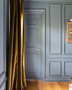 One Room Challenge, The Reveal: A Modern Traditional Master Bedroom Bedroom Furniture, Bedroom Decor, Bedroom Ideas, Furniture Layout, Bedroom Lighting, Bedroom Designs, Blue Rooms, Blue Walls, Modern Traditional