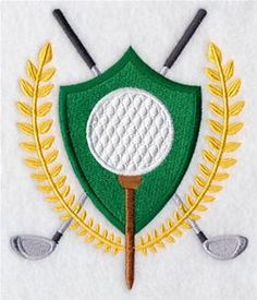 Machine Embroidery Designs at Embroidery Library! - Golf