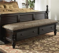 Bench for bedroom on Key Town Bed Bench.