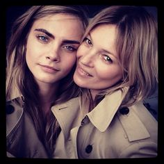 Cara Delevingne and Kate Moss Team Up for Burberry