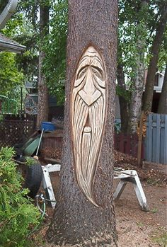stylized chainsaw carving