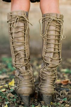 Social Outlaw Taupe Knee High Boots at reddressboutique.com