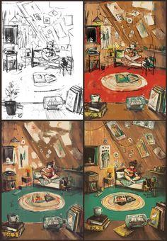 מריאנה רסקין . Marianna Raskin . A small part of the process for the last illustration https://www.facebook.com/mariannaillustration/photos/a.456464541204931.1073741831.454628518055200/459739950877390/?type=3&theater