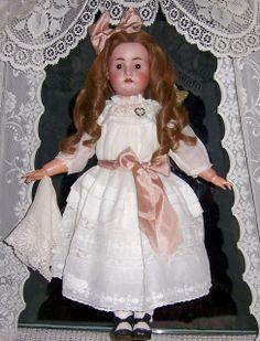 "25"" Antique German Bisque Head Doll. Koenig Wernicke. Head by Hertel Schwab."
