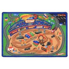 Hot Wheels Game Rug