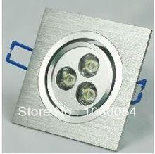 LED lámpara de techo de 3W 5W 7W downlights 220v llevó el proyector del bulbo epistar ite neutral rejilla plafón cuadrado AC DC de alta potencia(China (Mainland))