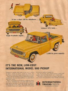 1971 INTERNATIONAL HARVESTER Pickup Vintage Original Print AD HI woodie car CA