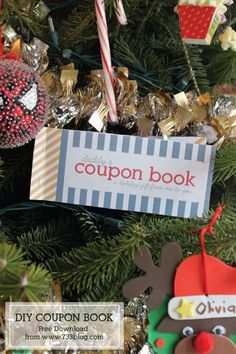 DIY Coupon Book - Holiday Gift Idea to Dad from Child