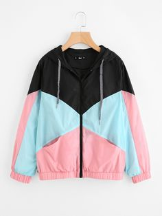 Shop Cut And Sew Hooded Windbreaker Jacket online. SheIn offers Cut And Sew Hooded Windbreaker Jacket & more to fit your fashionable needs.