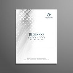 Abstract modern business brochure template Free Vector
