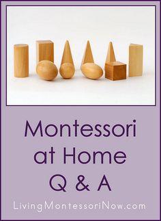 Montessori at Home Q&A (post includes the Montessori Monday link-up collection)