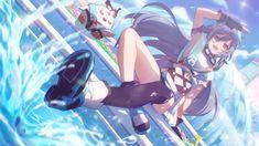 Anime Girl Neko, Anime Art Girl, Anime Blue Hair, Bleach Characters, Anime Scenery Wallpaper, Drawing Reference Poses, Darling In The Franxx, Anime Comics, Dark Fantasy