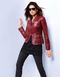 Feurige Lederjacke mit natürlichem Glanzfinish - perfekt für den individuellen Lieblings-Look!