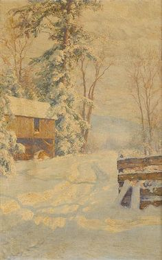 WALTER LAUNT PALMER, (AMERICAN 1854-1932), TRACKS IN THE SNOW