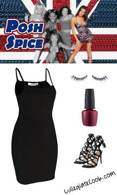 Posh Spice Costume - Collegiate Cook