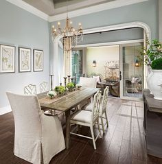 Modern dining room colors dining room paint colors best dining room paint colors paint ideas for dining rooms dining room modern farmhouse dining room Gray Blue Dining Room, Dining Room Paint Colors, Dining Room Walls, Dining Room Design, Colorful Dining Rooms, Dining Area, Design Room, Dining Tables, Home Design