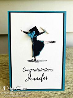 Great card for that graduate who is a dancer, loves to dance or has graduated wi... - #Card #Dance #dancer #Graduate #graduated #Great #loves #wi