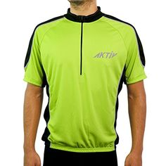 Men's Cycling Jerseys - Aktiv Sports Men Cycling Short Sleeve Jersey -- Continue to the product at the image link.