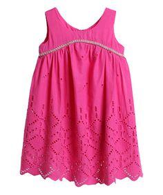Hot Pink Eyelet Dress - Toddler & Girls